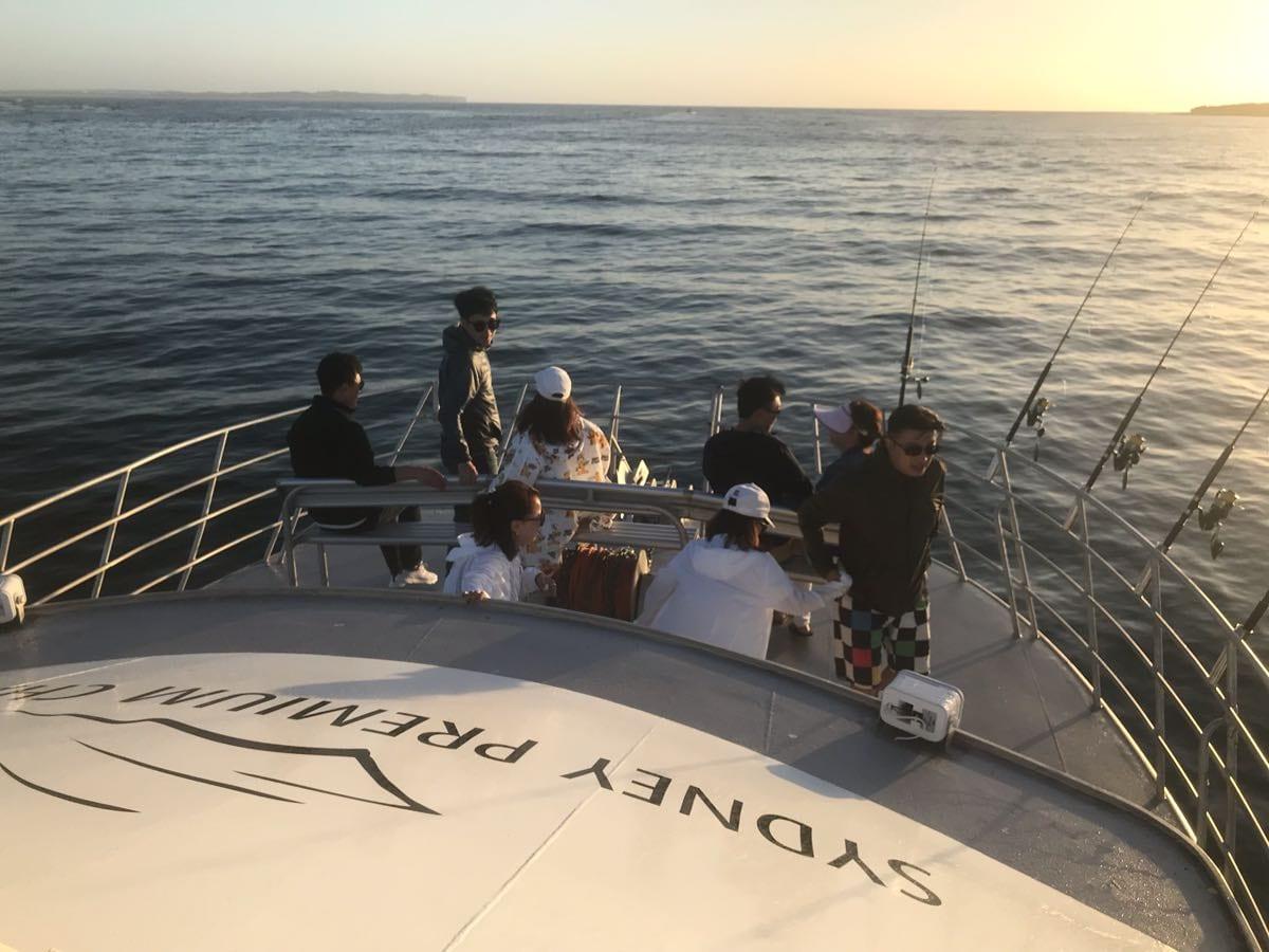 Summer morning fishing charter Sydney