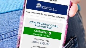 Fishing licence fee NSW